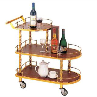 trolley golden table